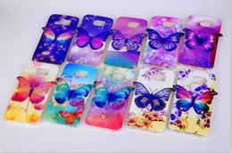 Wholesale Galaxy S4 3d Cartoon Cases - 3D Cartoon Butterfly TPU Cases Luxury Fashion Cover Soft senior Cover Case for Samsung Galaxy S4 S5 S6 NOTE3 NOTE4