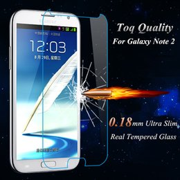 Wholesale Galaxy Note Ii Screen Protector - Top Quality 0.18mm Premium Tempered Glass Screen Protector Protective Film For Samsung Galaxy Note 2 II N7100 With Retail Box