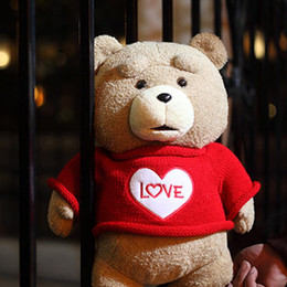 Wholesale Stuffed Love Bear - 2016 The Film Teddy Bear Ted 2 Plush Toys In Apron England Love Sweater 48CM Soft Stuffed Animals Ted Bear Plush Dolls