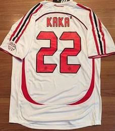 Wholesale Soccer Jerseys Pirlo - Retro jerseys 2006-07 CL KAKA   Maldini  Inzaghi   Pirlo  Nesta Jersey shirt Customize name