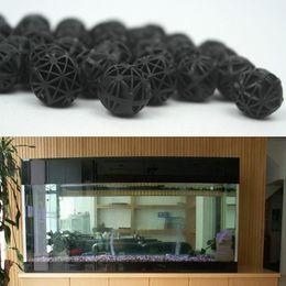 Wholesale Plastic Bio Balls - Black Aquariums Accessories 16mm Biological Bio Balls Aquarium Pond Fish Nano Tank Wet Dry Canister Filter Media