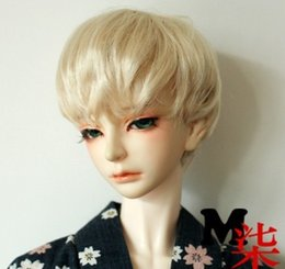Wholesale Sd Bjd Doll Male - Free Shipping Fashion Short Mohair Doll Wig For Male Doll, Synthetic BJD   SD 1 3 Wig, Ash blond Wig Toy
