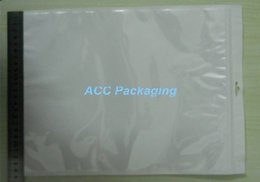 "Wholesale Poly Bags 25 - 25*35cm (9.8*13.8"") White Clear Self Seal Zipper Resealable Plastic Retail Packaging OPP Poly Bag Ziplock Zip Lock Bag Package W  Hang Hole"