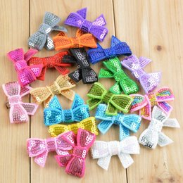 Wholesale Diy Hair Accessories Beads - 200pcs beads piece sequin tie bowknot baby hair bows for headband hairbands infant accessories clothing DIY hair accessories