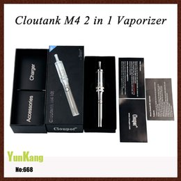 Wholesale Top Quality E Cigarette Battery - Cloutank M4 e cigarette kit 650mAh F1 battery Cloupor Cloutank M4 Airflow Control Dry herb wax vaporizers atomizer gift box Top quality