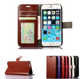 Wholesale Framed Wallets - Wallet PU Leather Case Cover Pouch with Card Slot Photo Frame for iPhone 6 7 6 PLUS 7Plus Galaxy S6 S7 EDGE S8 S8 plus case cover