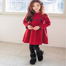 Wholesale Folk Skirt - Fashion Girls Sweet Knee-Length Skirts Baby Velvet Princess Dress Folk-custom Style Children Wear Clothing in Winter
