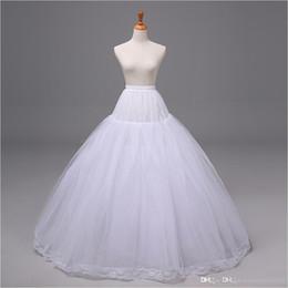 Wholesale Tulle Wedding Dress Slips - 2015 New Arrivals Bridal Wedding Dress Ball Gown Petticoat Underskirt Crinoline Skirt Slip Tulle Nylon Bridal Accessories 12015