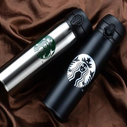 Wholesale Bottled Water Business - Starbucks Water Bottles High Capacity Glass 304 Stainless Steel Thermal Insulation Cup 500ML Business Gift 6 Colors