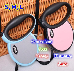 Wholesale Designer Dog Collars Leads - Designer Pink Blue Automatic Leashes Roulette Leash For Dogs Retractable Dog Lead Rope 3m 4m 5m Product For Animals CJ820