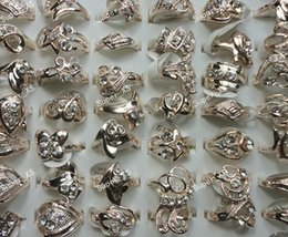 Wholesale Nice Christmas Lights - 12Pcs New Hot Wholesale Jewelry Ring Lots Fashion Pretty Nice Top Rhinestone Light Gold Plated Rings LR253 Free Shipping