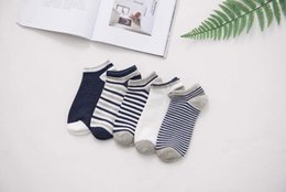 Wholesale Fine Knits - Men spring and summer short socks cotton fine stripes men socks socks wholesale factory free shipping 809