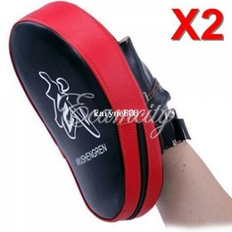 Wholesale Karate Kick Pads - Free Shipping 2pcs lot MMA Target Focus Punch Pads Boxing Mitts Training Glove Karate Muay Thai Kick