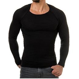 2019 korea stil kleidung männer Neue Herbst-Männer-T-Shirt Korea Art und Weise beiläufige dünne runder Ansatz-langärmelige T-Shirts reizvolle Art Mens Verschiffen Freie Kleidung S-XXL günstig korea stil kleidung männer
