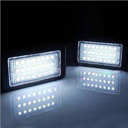 Wholesale Bmw X5 Tail Lights - 2x For BMW 3 5 Series E90 E60 E61 E46 M5 X5 Error Free LED License Number Plate Light