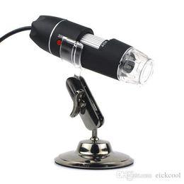 Wholesale Mp Endoscope - Limited New 2015 Time- Arrival Monocular Microscopes Portable Usb microscope Digital 40-800x 2.0 Mp Endoscope Magnifier Camera 8 Led