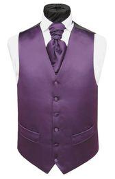 Wholesale Formal Waistcoats - Formal Purple Men's Waistcoat 2015 New Arrival Fashion Groom Vests Casual Slim Vest Custom Made 2016