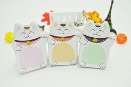 Pegatinas de animales memo online-Lindo Lucky Cat Animal Mini Planner Pegatina Bloc de notas Post It Material de la escuela Material Notas de la agenda adhesiva para el estudiante
