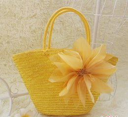 Wholesale One Shoulder Woven Bag - Wholesale-free shipping new arrival beautifulBag straw bag 2015 one shoulder handbag women's handbag bag yarn flower woven bag