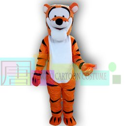 Wholesale Kigurumi Mascot Costume - Hot sale Tigger Mascot kigurumi Costume Cartoon Mascot Costume worsted cartoon character costumes Event Promoter party supplies