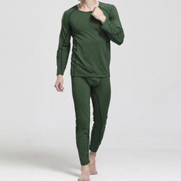 Wholesale Collar Rounded Low - Wholesale-Hot Brand Fashion Mens Thermal Underwear Sets Long Johns Milk Silk O-Neck Collar Long Warm Underwear Low Waist Men Leggings