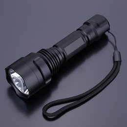 Wholesale Cree Flashlight Reflector - CREE Q5 5 Modes 400LM LED Flashlight Torch Light Lamp with Wrist Strap Durable Mini Handy Portable Outdoor Reflector Design order<$18no trac