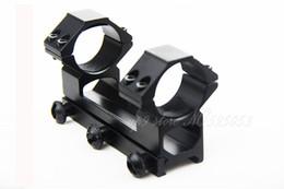 Anelli tattici di campo online-Tactical Quick Staccare 30mm Anello Monte Integrale See-Through Rifle Scope Weaver Picatinny 20mm Rail Per Ourdoor Caccia