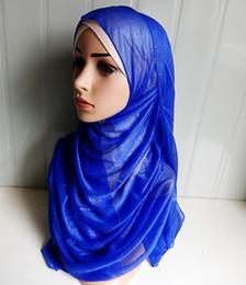 Wholesale Islamic Clothing Women Wholesale - L058 Soft Net Bling Bling New arrival Fashion super size muslim Shawl Ladies Hijab elastic 20 pcs per lot Islamic-clothing-Hijab