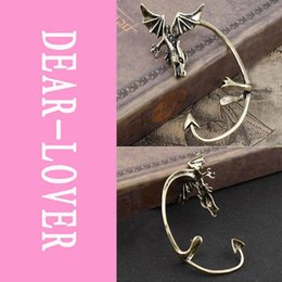 Wholesale Gothic Earrings For Sale - Hot Sale Fashion Earring Gothic Dragon Ear Clip LC0818 Jewelry for women party Accessories FG1511
