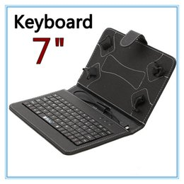 "Wholesale Pink Keyboard Kids - Q88 7"" Tablet PC PU Leather Keyboard Stand Case For 7 Inch Kids Tablet PC Q88 7"" Keyboard Cover Case 50PCS"