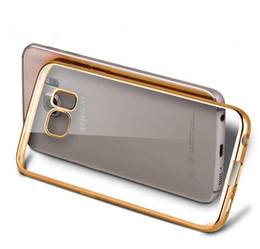 Wholesale Chrome Iphone Bumpers - Soft TPU Cover Protective Shell For iPhone 6 6s plus 5 5s galaxy s7 edge plus Chrome Bumper UltraThin Plating Crystal Clear Case