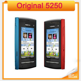 Wholesale Mobile Touch Screen Gsm - Original Nokia Mobile Phone Unlocked 5250 single core GSM Single sim Touch screen refurbished Cellphone
