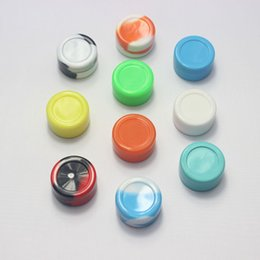 Wholesale Wholesale Color Glass Jars - Wax Extract BHO Silicone Jar Container No Stick Various Color Silicone Jars Dab wax vaporizer oil container for Glass bong Water Pipe