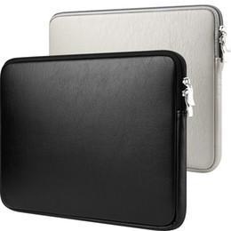 Funda de piel macbook pro 15 online-Funda protectora de 11 a 15 pulgadas Funda protectora Funda protectora para MacBook Air Pro Retina Dell 11.6 13.3 15.6 Cuero de PU impermeable