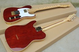 Wholesale Custom Tele Body - Factory custom tele electric guitars wolesale wine wood red finished binding body