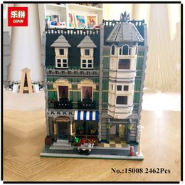 Wholesale Toy City Buildings - Lepin 15008 2462Pcs City Street Green Grocer Model Building Kits Blocks Bricks Compatible Educational toys 10185