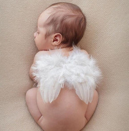 Wholesale Baby Costume Wings - Kids Newborn Baby Infant Fancy Party Fairy Feather Angel Wings Costume