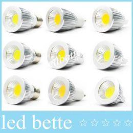 Wholesale Mr16 Led Blue 12v - Hot Sale 5W 7W 9W COB GU10 Led bulbs light 60 angle dimmable E27 E26 E14 MR16 led spotlights warm pure cool white 110-240V 12V
