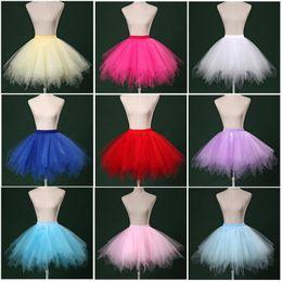 Wholesale Ladies Pettiskirt Skirts - Women Ladies Ballet Dance Costume Candy Tutu Layered Lace Mini Skirts Fluffy Bubble Skirt Performance Pettiskirt Gauze Ball Gown