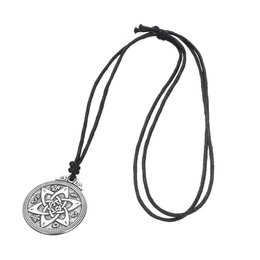 Wholesale Irish Style - New Style Retro Wicca flowers Knot Pentacle for Protection Vintage Jewelry Pagan Irish Pendant Necklace Jewelry