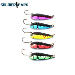 Wholesale Lead Spoons Fishing Lures - 10pcs lot Sinking 4.2CM Vertical Knife Lure Tackle Jigging Metal Spoon Artificial Bait Boat Ocean Fishing Jig Lures Lead Fish order<$18no tr