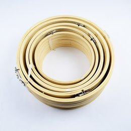 Wholesale Diy Hoops - 8 sizes Embroidery Bamboo Hoops For Make Easy Christmas Wreaths DIY Arts Crafts Home Wedding Cafe Decoration