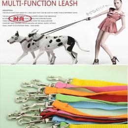 Toptan-Yeni Pet Ürünleri Naylon Malzeme Köpek Tasma 6 Renk çok Fonction Çekiş Halat Köpek Zinciri Pet Çift Tasmalar Kurşun karışık nereden