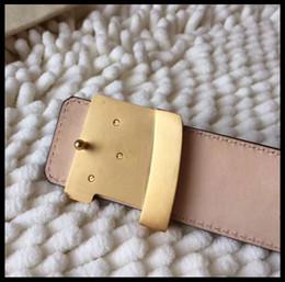 Wholesale Leather Belt Stainless Steel Buckle - Big large buckle genuine leather belt designer belts men women high quality new mens belts luxury 2017