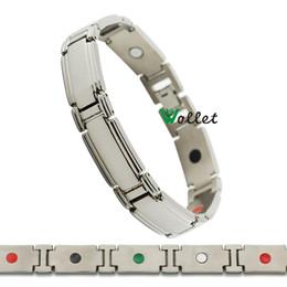 Wholesale Titanium Bracelet Germanium Magnet - Wollet Jewelry 2015 fashion jewelry magnetic infrared negative ion tourmaline germanium titanium bracelet men magnet
