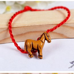 Wholesale Red Dog Sign - Wholesale-Red Rope Animal Bracelet twelve Chinese zodiac signs Fish Dog Horse Cock Sheep Ox Snake Mouse Tiger Monkey Fish Rabbit