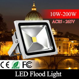 Wholesale Led Spot Lights Outdoor - DHL 30W 20W 10W 50W 100w 150W 200W LED flood light spot light projection lamp Advertisement Signs lamp Waterproof outdoor floodlight