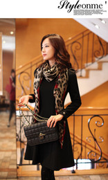 Wholesale Gauze Scarfs - Women Girl Leopard Shawl Gauze Long Wrap Stole Chiffon Soft Scarf High Quality Free Shipping #234857