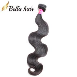 2019 xpression hair weaving Extensões de Cabelo malaio Tece Onda Do Corpo Da Cor Natural Feixes de Cabelo Humano Trama Dupla Bellahair 8A 2 pçs / lote