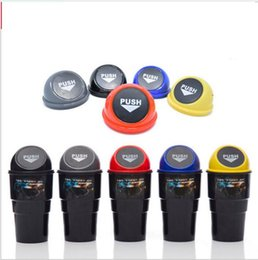 Wholesale Wholesale Mini Garbage Cans - Mini Car Trash Bin Office Home Auto Car Waste Trash Rubbish Bin Can Garbage Dust Case Holder Convenient Trash Can KKA3512